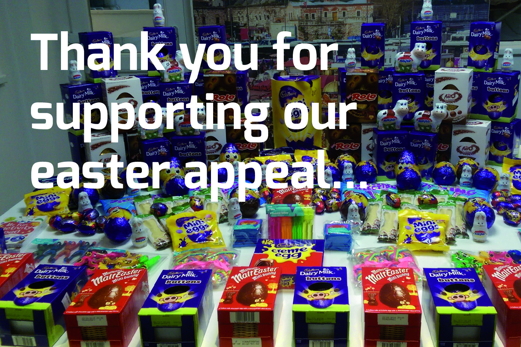Easter thank you header