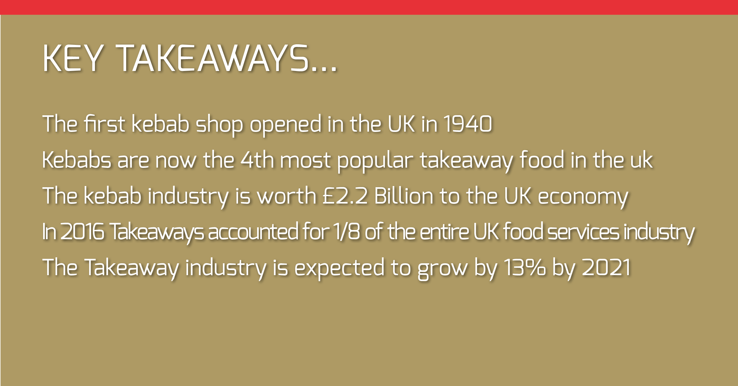 Kebab in the uk, key takeaways